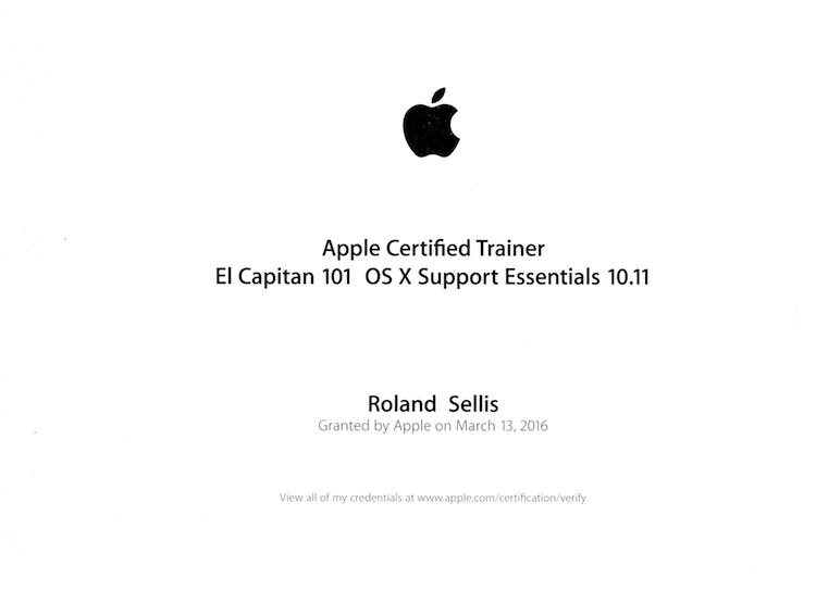 Certificaten: Cert ACT ElCapitan 10.11