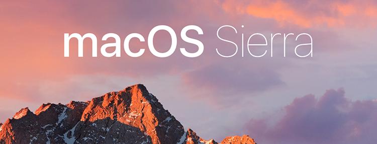 Splash screen macOS Sierra