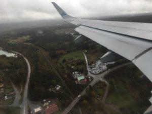 Vlak voor de landing in Gothenburg