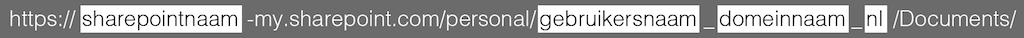 De URL naar OneDrive